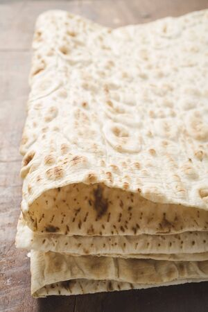 several breads: Lavash (thin flatbread, Turkey) LANG_EVOIMAGES