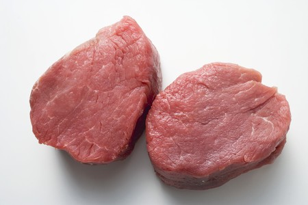 in twos: Two beef medallions