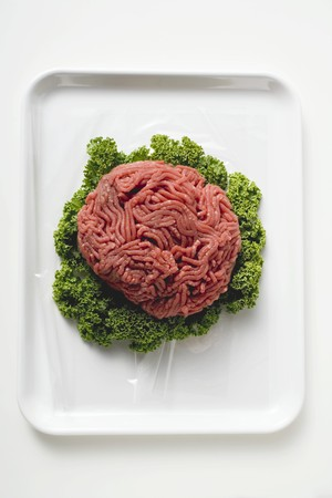 minced beef: Minced beef on parsley LANG_EVOIMAGES