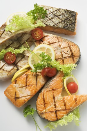 qs: Grilled cutlets and fillets of salmon and cod LANG_EVOIMAGES