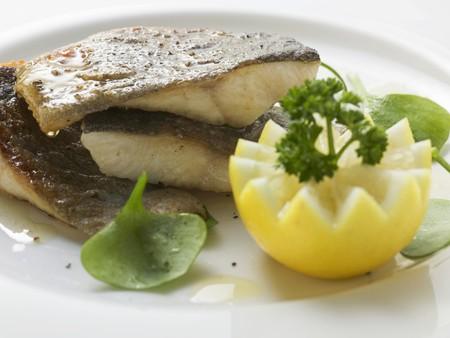 salmo trutta: Fried trout with lemon