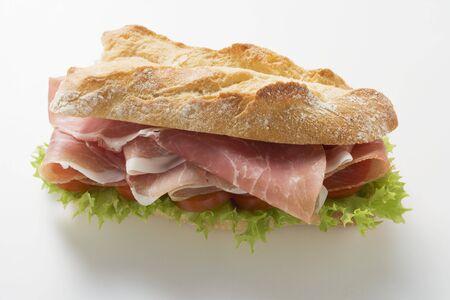 ham sandwich: Panino al prosciutto crudo