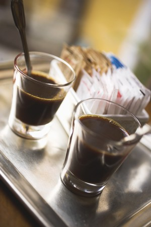 twos: Two glasses of espresso LANG_EVOIMAGES