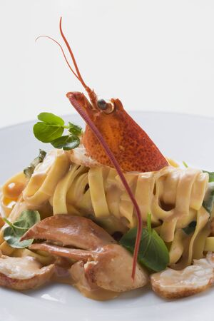 ribbon pasta: Ribbon pasta with lobster