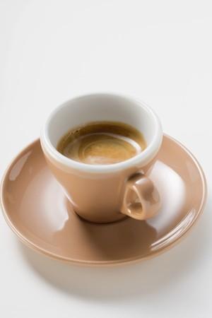 crema: Cup of espresso with crema