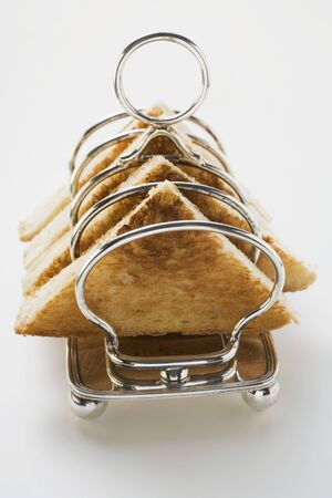 several breads: Toast in toast rack