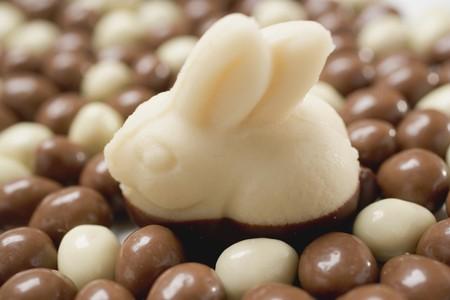 oeufs en chocolat: Lapin de P�ques massepain ?ufs en chocolat