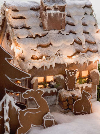 figurative: Gingerbread house with gingerbread animals