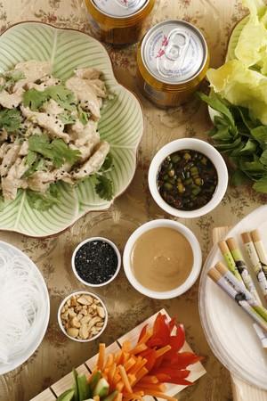 chicken curry: Asiatische Mahlzeit mit Huhncurry