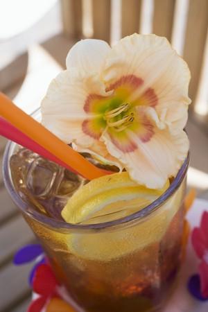 bacardi: Cuba Libre with amaryllis flower LANG_EVOIMAGES