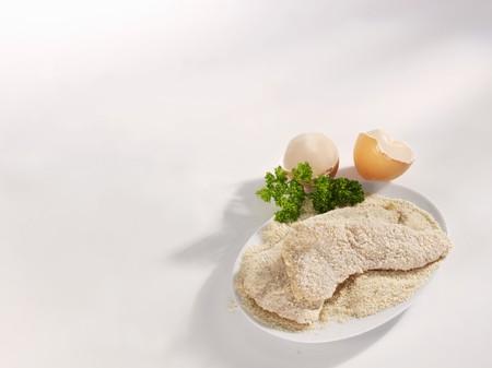 revestimientos: Raw, empanado Wiener Schnitzel (escalopes de ternera)