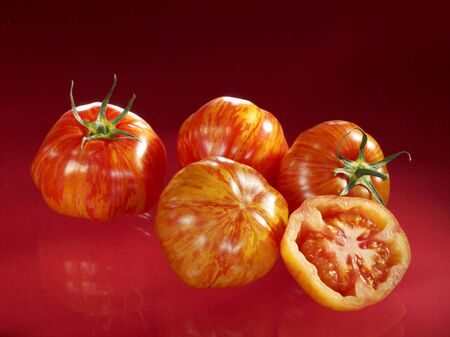entire: Tiger tomatoes, four whole and one half