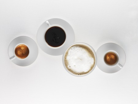 hot coffees: Espresso, black coffee and milky coffee