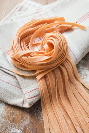 ribbon pasta: Red ribbon pasta LANG_EVOIMAGES