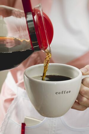 coffeepots: Pouring coffee into a cup LANG_EVOIMAGES