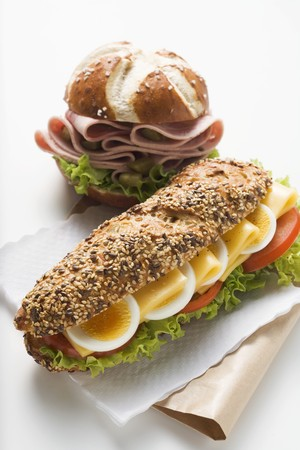 lye: Cheese sandwich and sausage in lye roll LANG_EVOIMAGES
