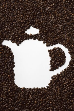 coffeepots: Coffee beans in shape of a coffee pot LANG_EVOIMAGES