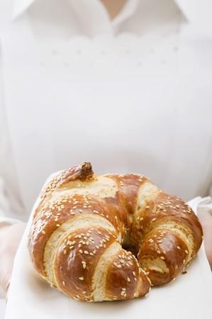 lye: A lye croissant