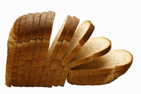 several breads: Sliced brown bread
