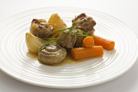 braised mushrooms: Braised meat with vegetables and mushrooms