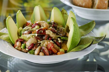 substantial: Bean salad with avocado