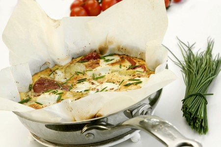 substantial: Potato, pepper and goats cheese frittata LANG_EVOIMAGES