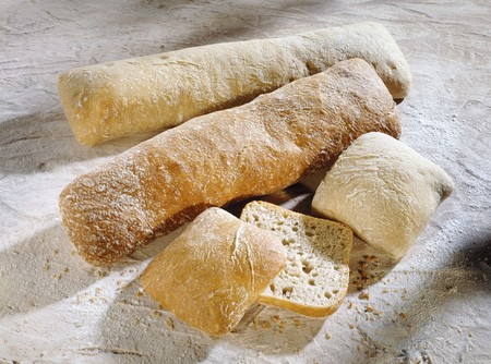 several breads: Ciabatta LANG_EVOIMAGES
