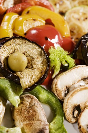 substantial: Grilled vegetables and mushrooms LANG_EVOIMAGES