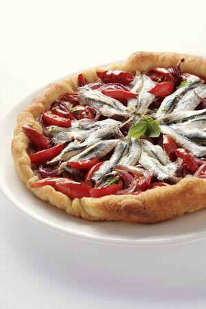 substantial: Pizza marinara (topped with anchovies and tomatoes)