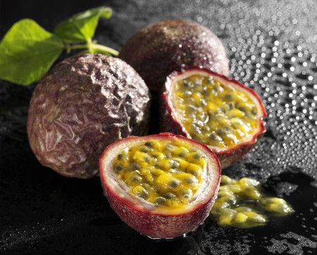 two and a half: One half and two whole passion fruits
