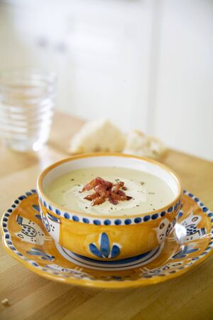 substantial: Fennel soup with bacon