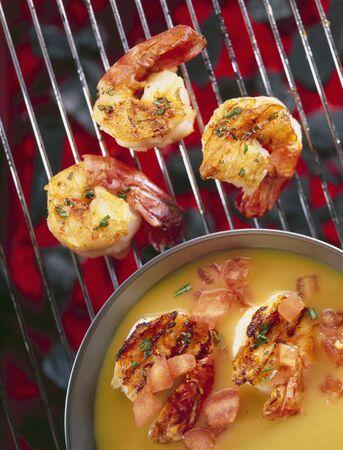 qs: Grilled prawn masala