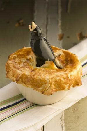 meat pie: A meat pie in a bird dish