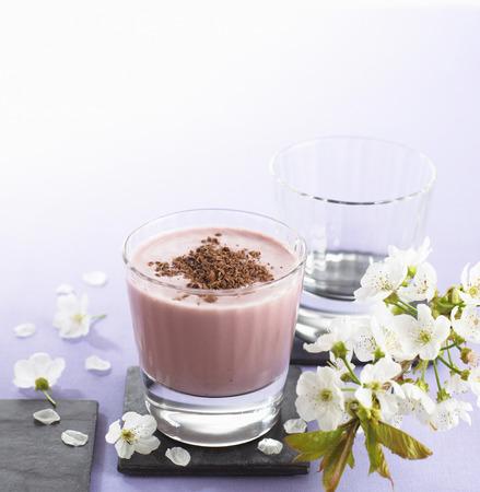 chocolate shake: Cherry and chocolate shake