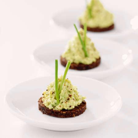 pumpernickel: Avocado cream on pumpernickel
