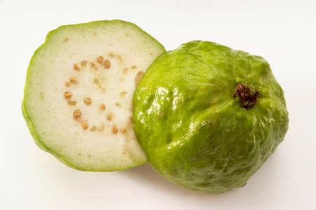 halved: Halved guavas