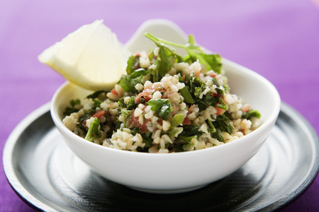 substantial: Pearl barley and parsley salad in a bowl