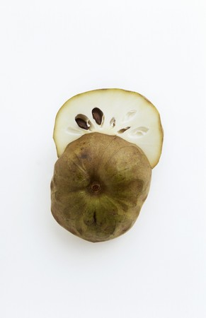anona: Halved Cherimoya on White