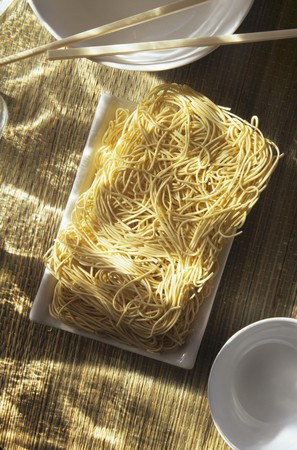 soba noodles: Dry Soba Noodles; From Above