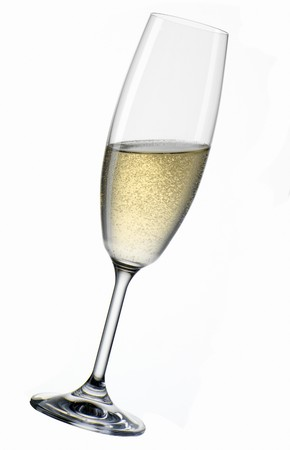 champers: A glass of Sekt, at an angle LANG_EVOIMAGES