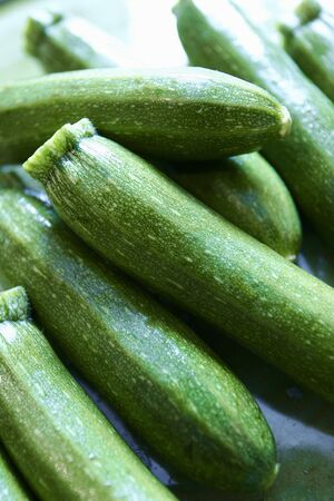 courgettes: Several courgettes in a heap