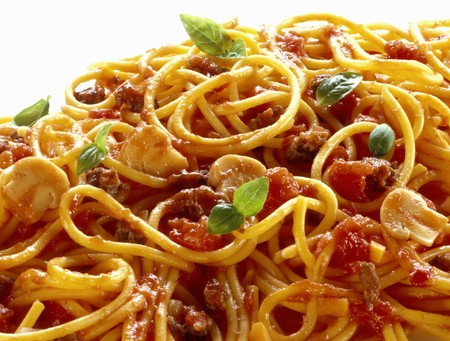 champignons: Spaghetti bolognese with mushrooms LANG_EVOIMAGES