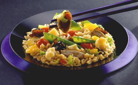 tout: Asian pan-cooked rice dish