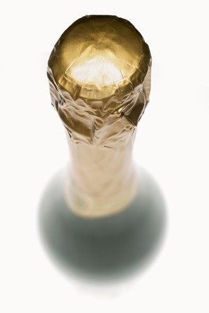 champers: A sparkling wine bottle