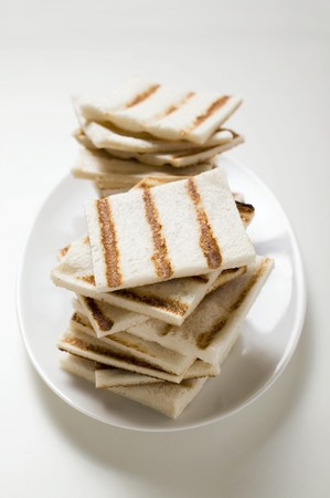 several breads: Grilled white bread