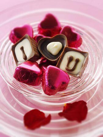 i love u: Chocolates with the message I love U