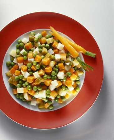 buttered: A plate of buttered vegetables with gherkins LANG_EVOIMAGES