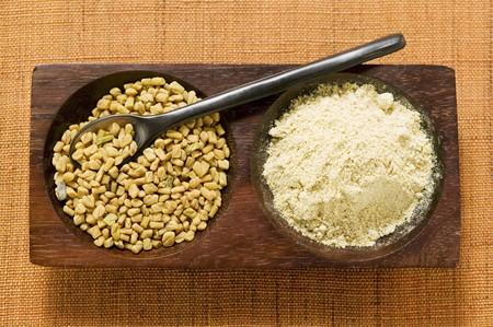 fenugreek: Fenugreek seeds, unground and ground