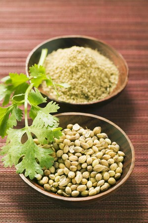 coriander seeds: Coriander seeds, ground coriander and coriander leaves