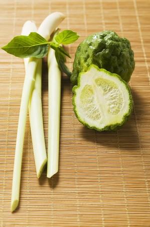 kafir lime: Kaffir limes, Thai basil and lemon grass